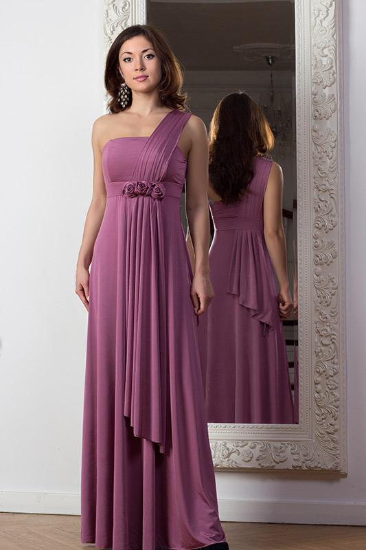 Платья брусничного цвета
